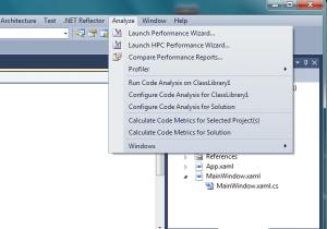 Visual Studio's Analyze Menu